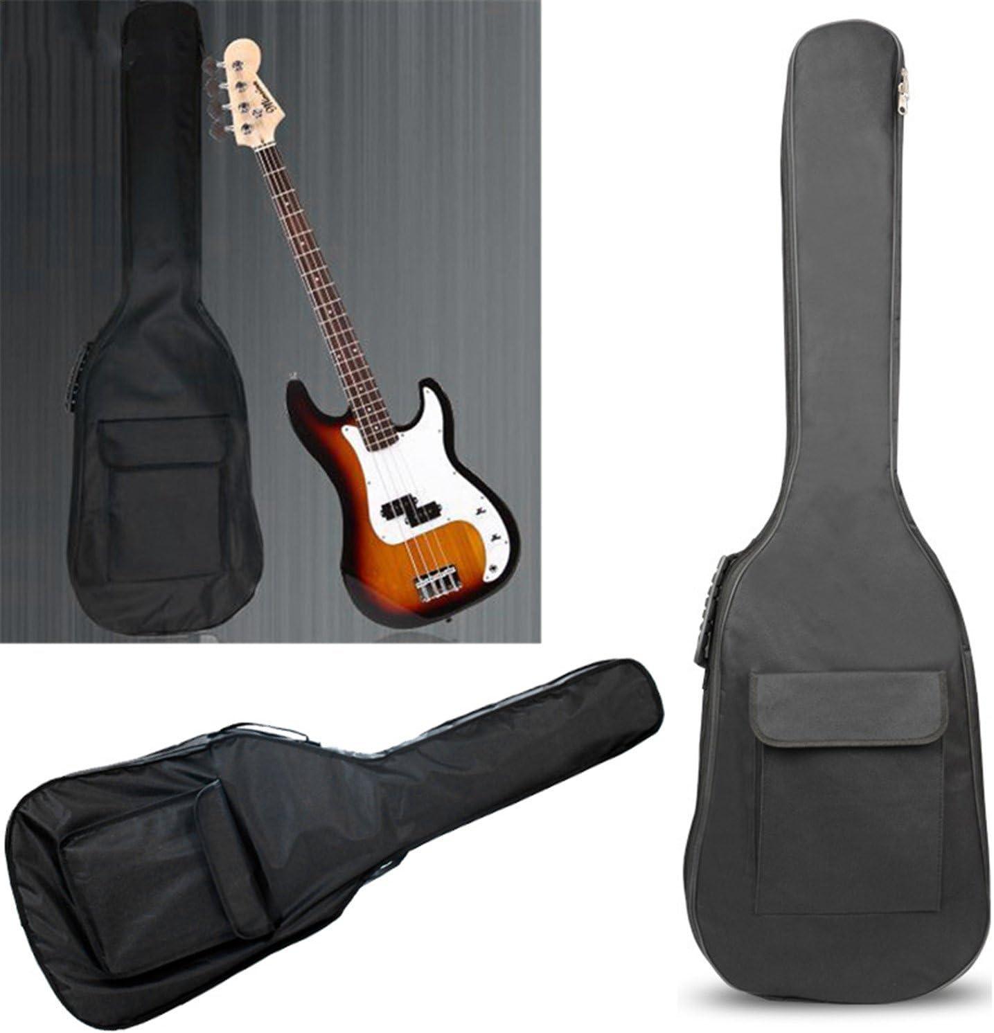Pinzhi Black Electric Bass Guitar Padded Gig Bag