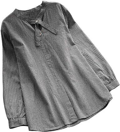 Vectry Mujer Corbata Cuello Casual Camisa Larga Tops Botones De Rayas Blusa Elegante Camisa Casual 2019 Mujer Blusa Primavera Y Otoño: Amazon.es: Ropa y accesorios