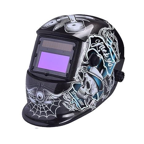 nuzamas funciona con energía solar auto oscurecimiento soldadura casco máscara de soldadura cara protección para Arc