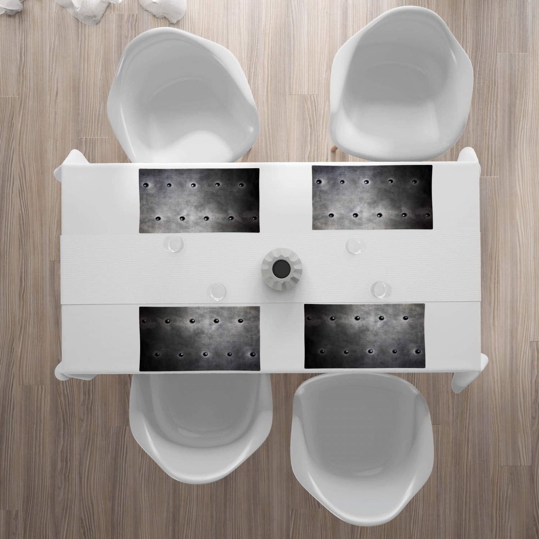Noir Gris Blanc 40 cm x 180 cm Rectangulaire D/écoratif pour Salle /à Manger Lignes abstraites ABAKUHAUS Noir et Blanc Chemin de Table