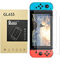 Auxin, Screen Protector for Nintendo Switch [2Pcs],Tempered Glass,Easy to Install,Bubble-Free