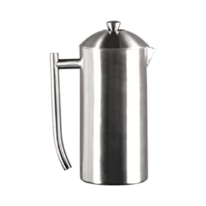 Frieling USA Double Wall Stainless Steel French Press Coffee Maker with Patented Dual Screen in Frustration Free Packaging, Brushed, 36-Ounce