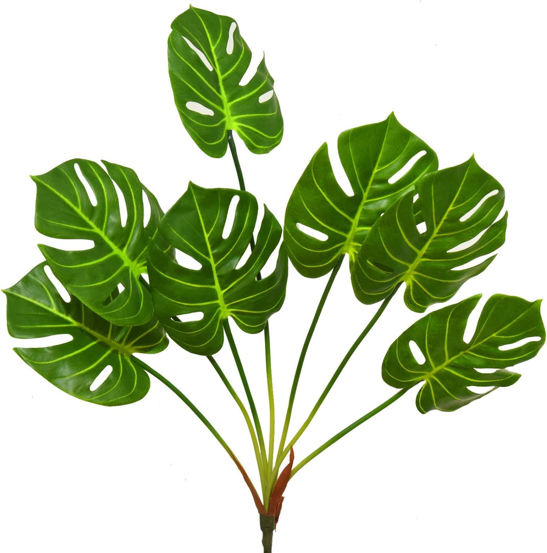 Vumdua Monstera Plants Palm Leaves Artificial Plants for Bedroom Kitchen Decor Wedding Decorations Jungle Theme Party Supplies