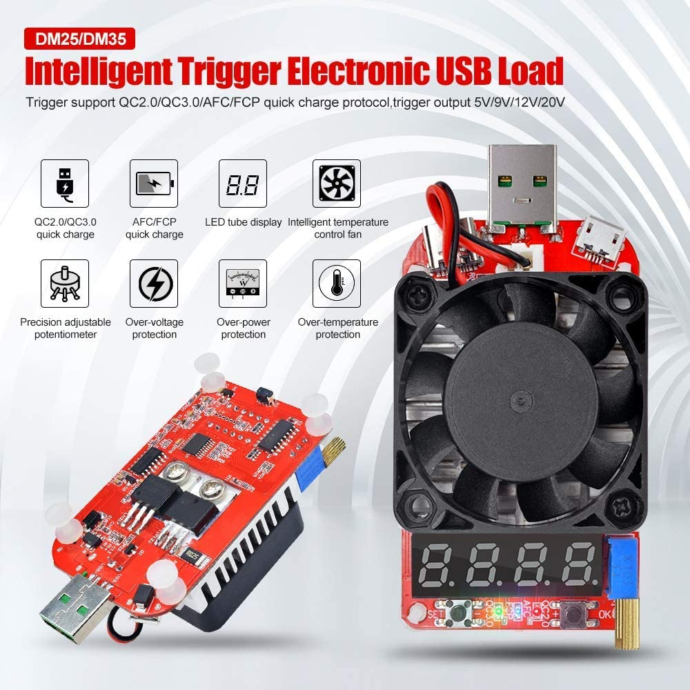 UT21B USB 3.0 display LCD multimetro Bluetooth USB voltmetro amperometro Aideepen UM24C Tester di carico USB 25 W con trigger QC3.0 elettronico intelligente