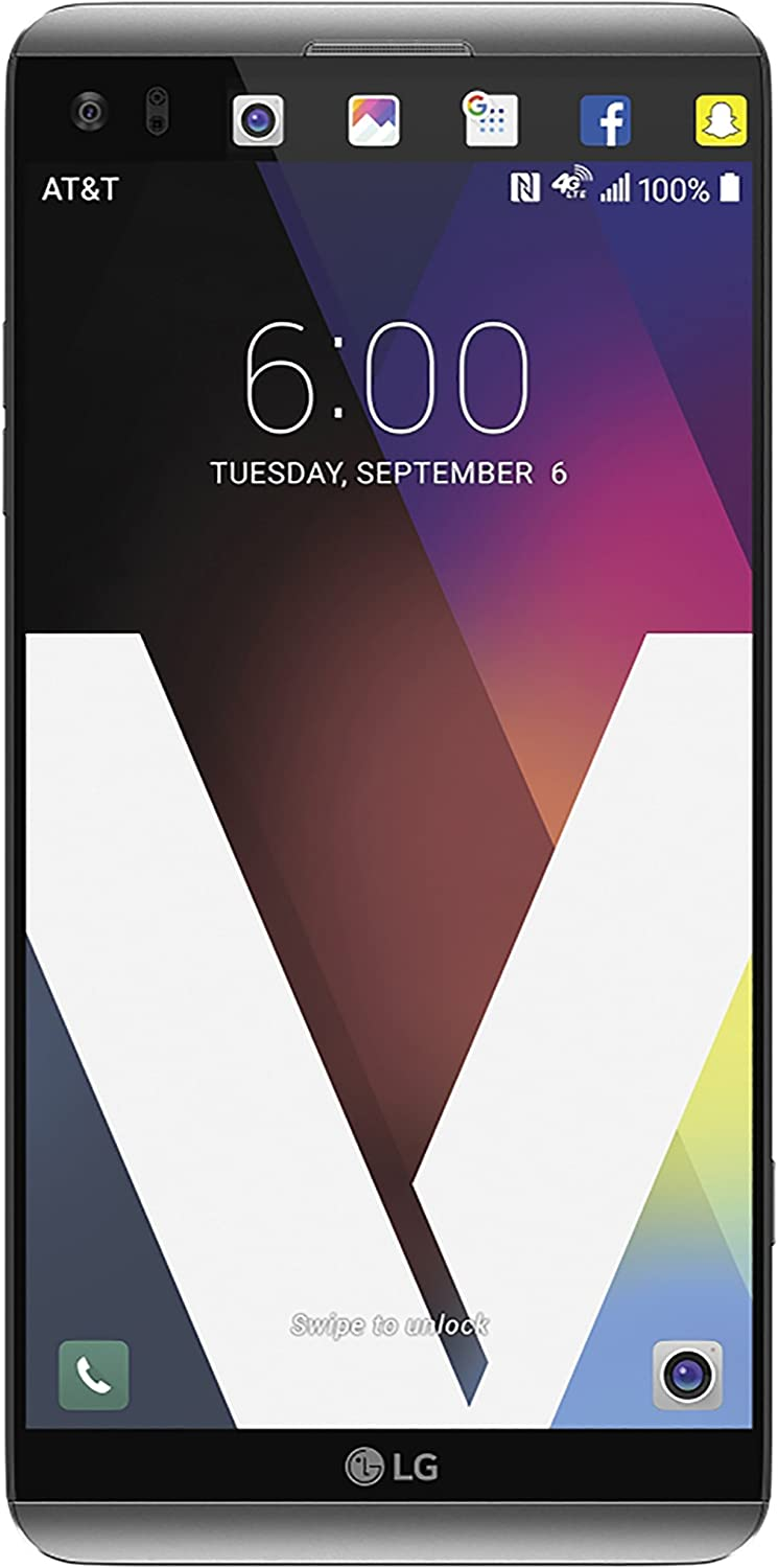 LG V20 64GB H910A Unlocked GSM 4G LTE Quad-Core Phone w/Dual Rear Camera (16MP+8MP) - Silver