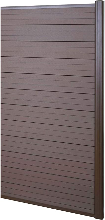Mendler Pannello supplementare frangivento Stretto Privacy Sarthe WPC 95cm Grigio