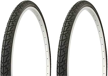 """Bicycle Tire DURO 24/"""" x 1 3//8/"""" Black//White Side Wall Cross Ranger 60 PSI"""