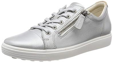 c87f43c0f0 ECCO Women's Soft 7 Ladies Low-Top Sneakers, (Concrete Metallic 51382), 5 UK