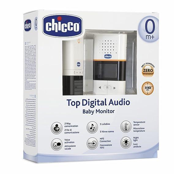 Chicco Top Digital - Baby monitor de audio con conexión MP3: Amazon.es: Bebé