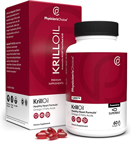 Amazon Com Antarctic Krill Oil 1000 Mg Double Strength Sustainably Sourced With 100 Traceability Superba2 Krill Omega 3 With Astaxanthin Cardiovascular Health And Memory No Fishy Aftertaste 60 Softgels Health Personal Care