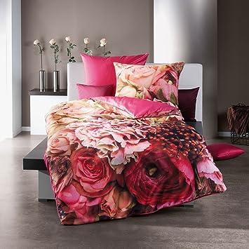 Kaeppel Bettwäsche Kaeppel Rose Bouquet Rosa Feine Mako Satin