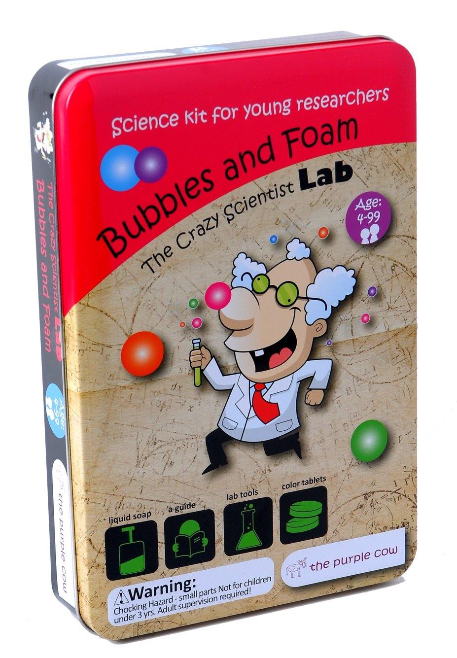 The Purple Cow Crazy Scientist Bubbles and Foam - Science Kits for Young Researchers