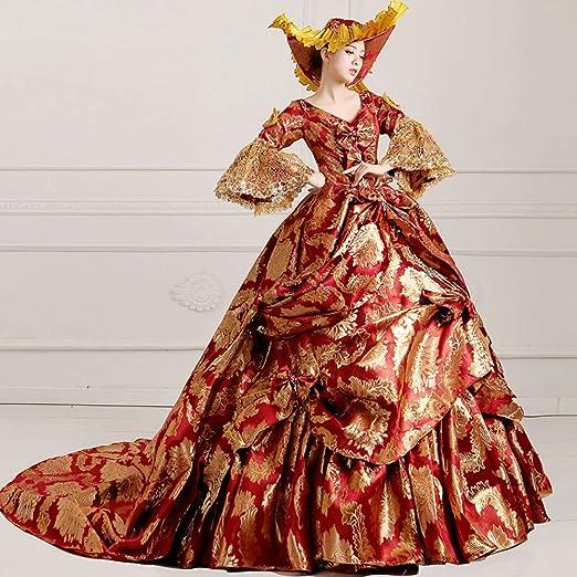 QAQBDBCKL Natural 17 Vestido De Corte del Siglo XVIII Elegante ...