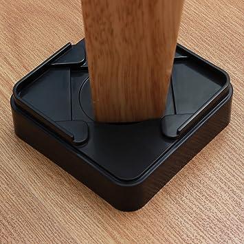 Amazoncom DingHeng Pack Black Furniture Risers For The Bed - Furniture risers for desk