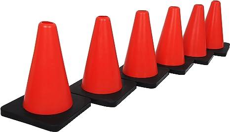 grazzo marcador cono negro de color rojo juego de 6 conos, con ...