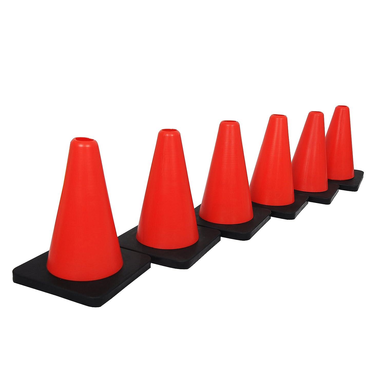 Grazzoマーカーコーン6セットレッドブラックカラーコーン、サッカー、フットボールの安定性、完璧のベース& Anyボールゲームをマーク   B074QQHW1W