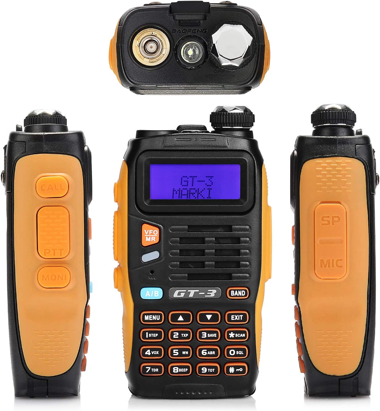 ABS Frame and Programming Cable FM Radio 2 Pack 136-174//400-520 MHz Chipsets Upgraded BAOFENG GT-3 Mark-II Dual Band Transceiver