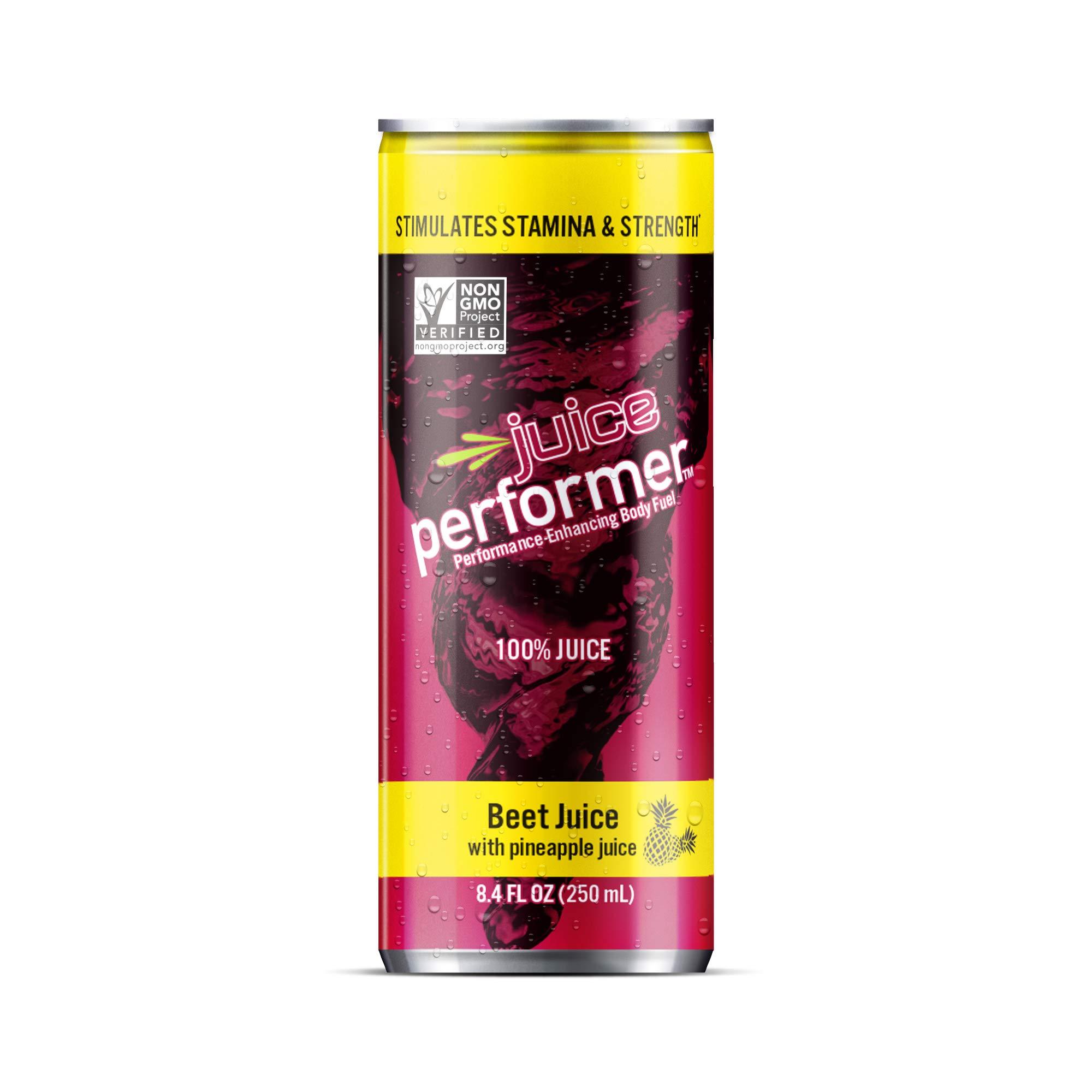 Juice Performer Beet Juice with Pineapple Juice 8.4 Fl. Oz. Can (12 Pack) by Juice Performer