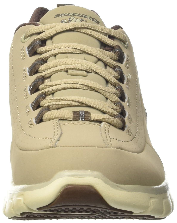 Skechers Damen Synergy Trend Setter Sneakers im sportlich, Absatz klassischem Design mit integriertem Absatz sportlich, und gepolsterte Memory Foam Einlegesohle Grau (Stbr) 61c0a1