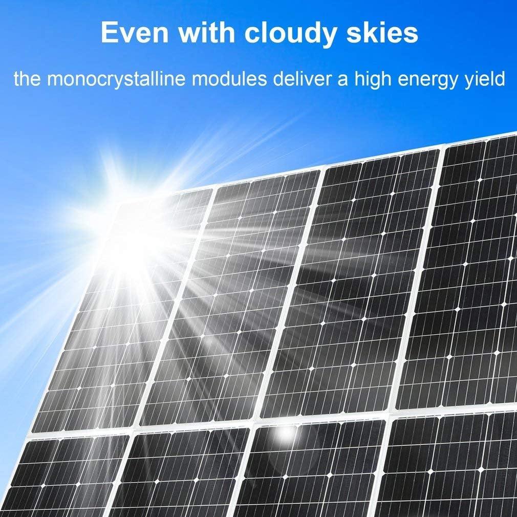 Caravan 100 Watt 12 Volt Solar Panel Monocrystallines Foldable Ideal For Boat Garden Sheds 9x4