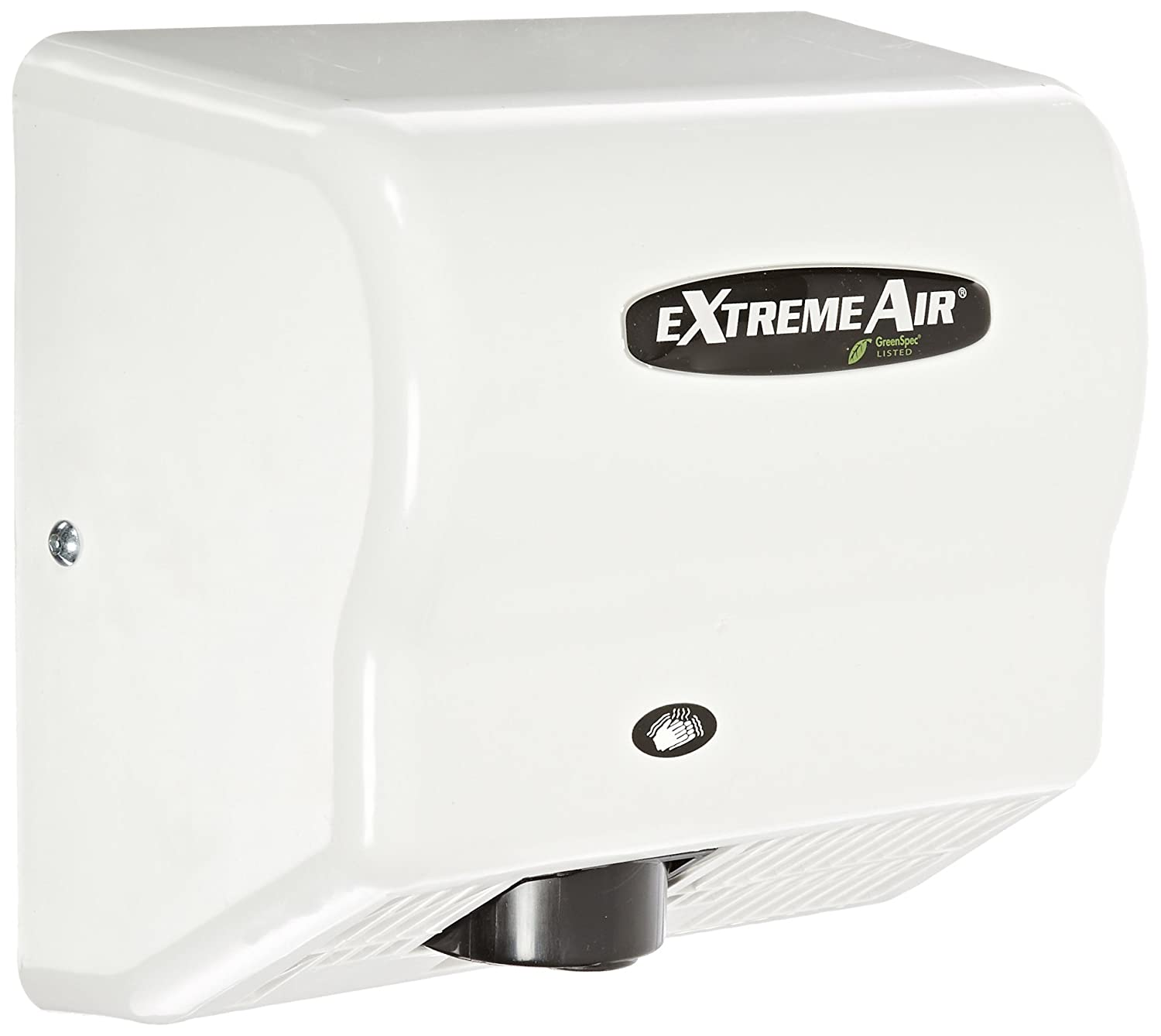 Image of American Dryer ExtremeAir EXT7 ABS Cover High-Speed Automatic Hand Dryer, 12-15 Second Dries, 100-240V, 540W Maximum Power, 50/60Hz, White Hand Dryers