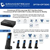 Grandstream DP750 Long-range DECT Base Station + DP720 5-UNITS DECT HD Handset