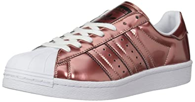 adidas Originals Women's Superstar Sneaker, Copper Metallic/White, 7