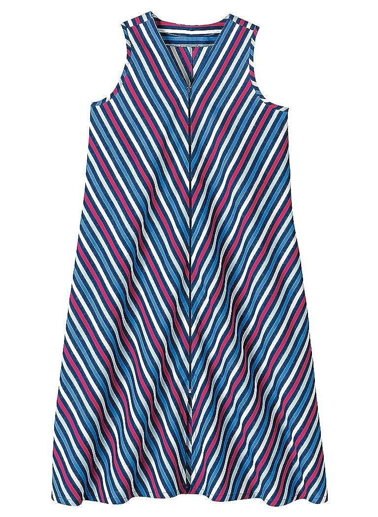 AmeriMark Mitered Zip House Dress