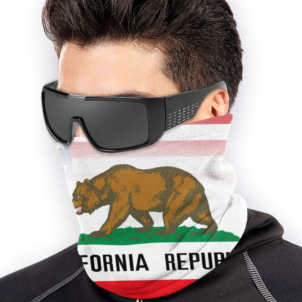 Ear Warmer Headband /& Face Mask Hats Headwear for Cold Weather Winter Outdoor Sports Black USA California Flag Combo Winter Neck Warmer Gaiter//Balaclava Ski Face Mask Cover Neck Gaiter Tube