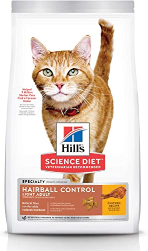 Hill s Science Diet Dry Cat Food, Adult, Hairball Control, Chicken Recipe