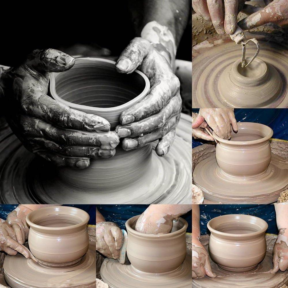 Lightweight Precision Under Glaze Applicator Set COMIART Silicone Glazing Ball Clay Sculpture /& Ceramic Pottery Art Glaze Painting Design Tools