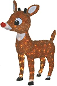 Product Works Lighted Rudolph Outdoor Decor, 26-Inch Lawn Ornament