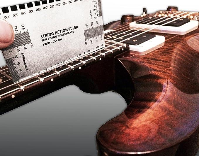 Acción de doble cara multifunción cuerdas de guitarra y de gran calibre regla juego de Up~y calibrar alma de guía del usuario~para guitarras eléctricas, ...