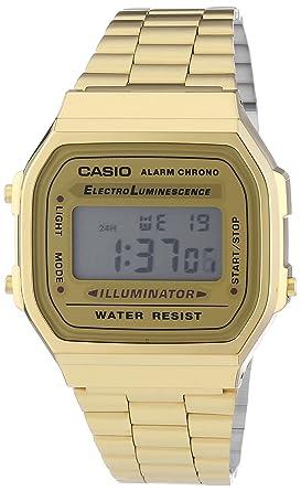 6c875b9e99 RELOGIO CASIO VINTAGE A168WG-9WDF-BR UNICO DOURADO  Amazon.com.br ...