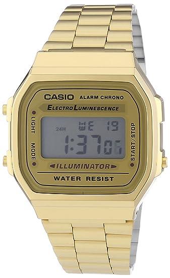 8a5549e2e98 RELOGIO CASIO VINTAGE A168WG-9WDF-BR UNICO DOURADO  Amazon.com.br ...