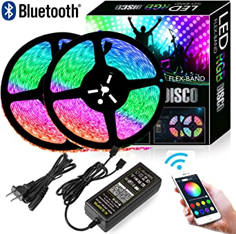 Color 5050 LED Strip Kit IP65 Smart Music Sync Light Strip Phone App Controlled