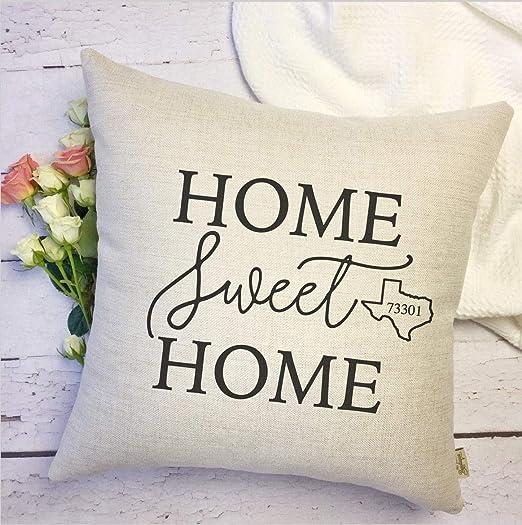 FloradeSweet Home Sweet Home - Funda de cojín de Estado ...