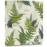 "High Note 2021 Planner by La Scarlatte, Greenery Woodland Ferns 17-Month Hardcover Planner, August 2020 - December 2021, 7"" x"