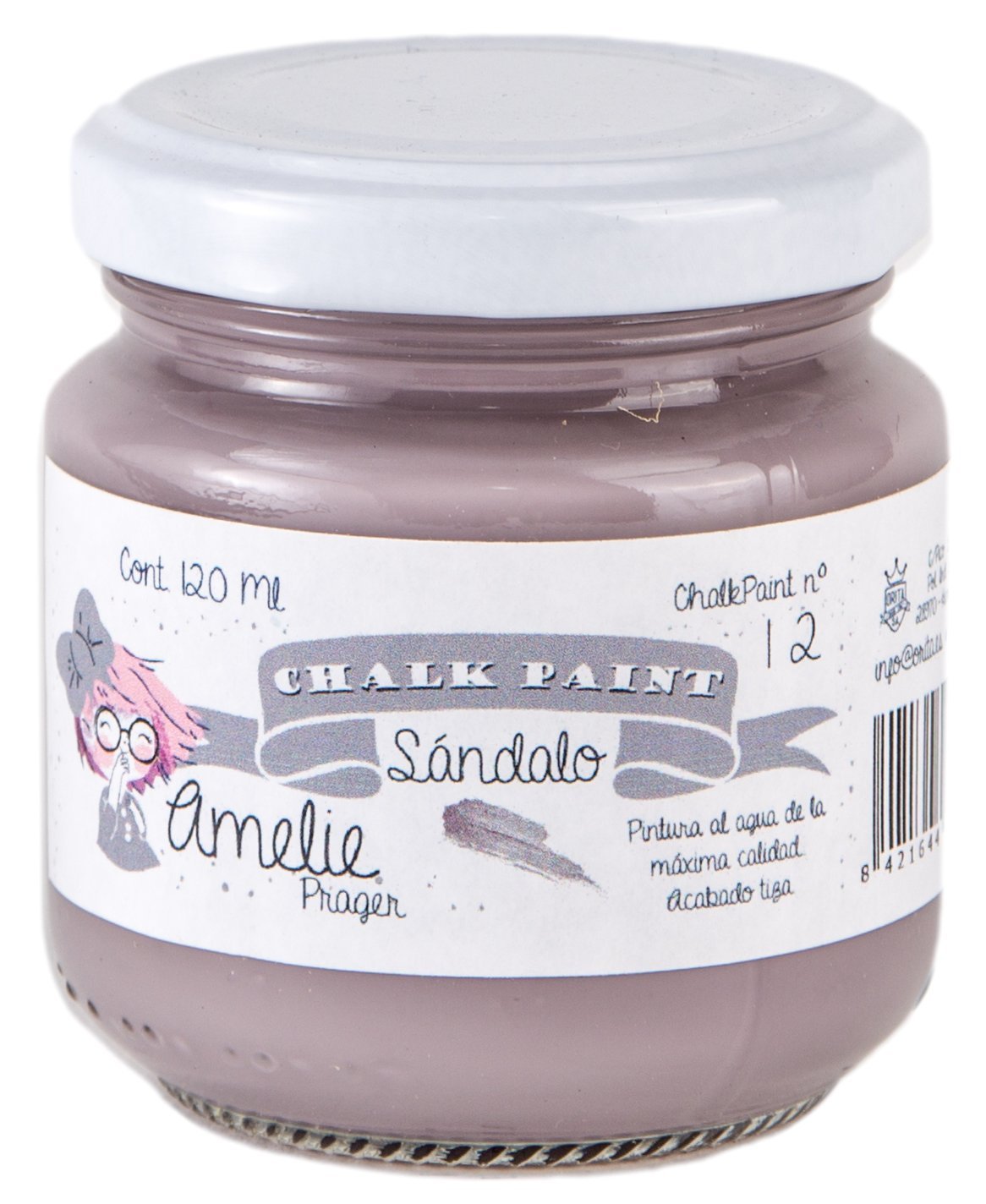 Amelie Prager 120 –  12 Paint to The Chalk, Sandalwood, 120 ml 120ml Orita 120-12