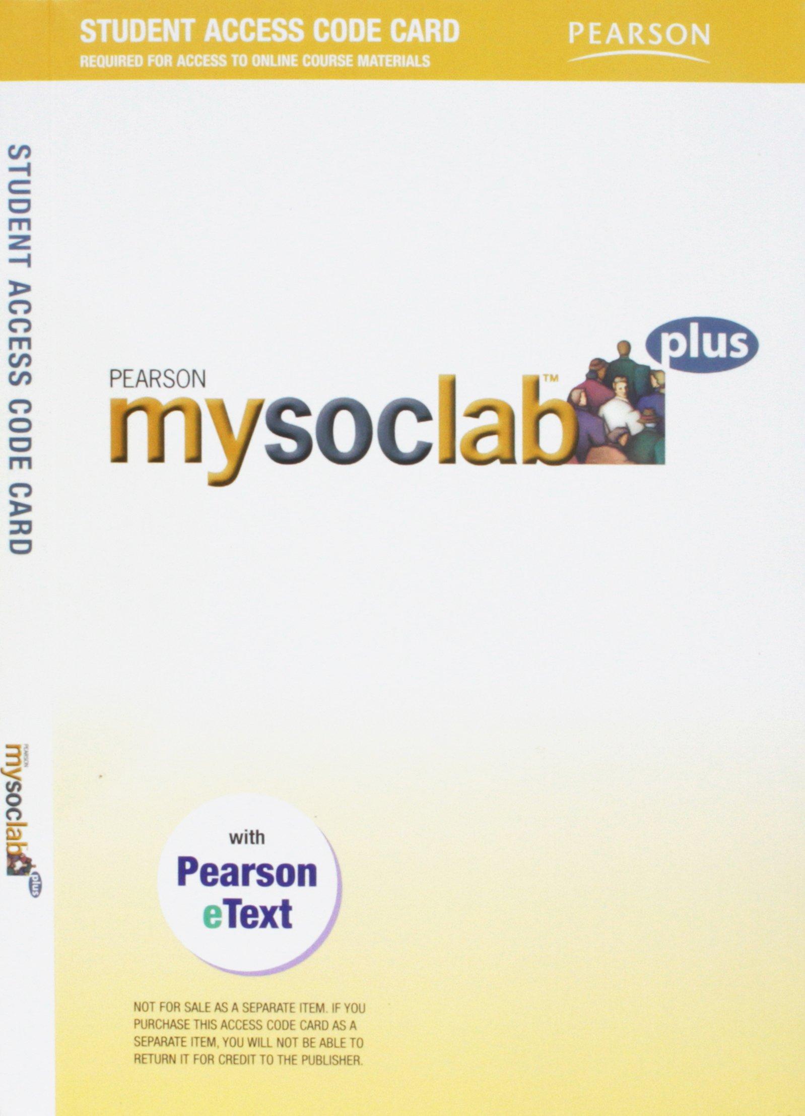 Pearson Mysoclab Plus Student Access Code Card PDF