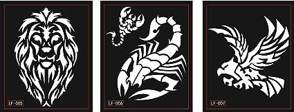 León Águila Escorpión Tattoo Plantillas Plantillas 3 Sheets para ...