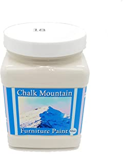 Chalk Mountain Brushes Quality Chalk Furniture Paint. Zero VOC and Low Odor. 51 Beachy and Earthy Colors to Select from. Available in 3 Sizes. 32oz #18 Moonstone