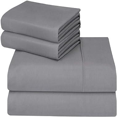 Utopia Bedding 4-Piece Queen Bed Sheet Set (Grey)