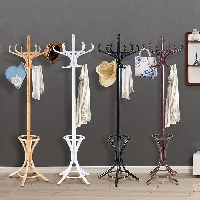 CASART Perchero de pie para Colgar en el salón, Paraguas, Sombreros, Perchas, para el hogar, Oficina, Interior