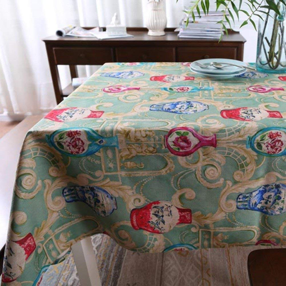 Shuangdeng 中国の古典的なスタイルのテーブルクロスレトロコットン、リネンテーブルクロス (Color : B, サイズ : 145x145cm(57x57inch)) 145x145cm(57x57inch) B B07SCK8TVZ