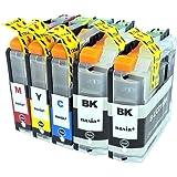 brother LC211(BK×2/C/M/Y) 【5本セット】 Hyper互換インクカートリッジ 【nasia+製】 (最新型ICチップ/残量検知/製品1年保証付き) LC211 211