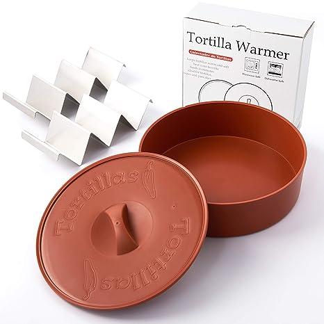 Amazon.com: Calentador de tortillas, 10 pulgadas, juego de 2 ...