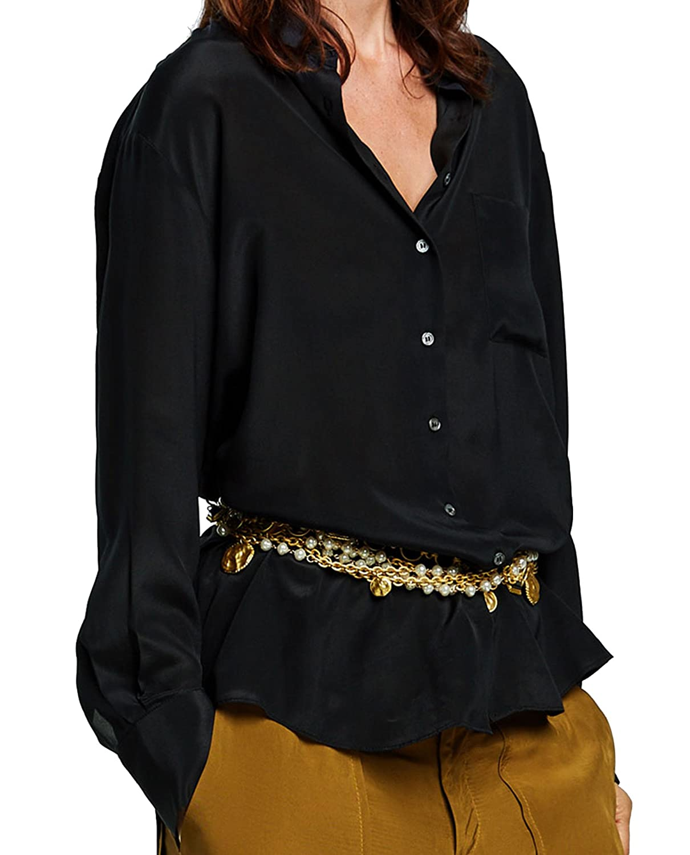 630f4739c25d6 Zara Women s Silk Blouse 2731 242 (Medium)  Amazon.co.uk  Clothing