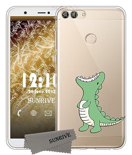 Funda Para Huawei P smart, Sunrive Silicona Funda Slim Fit Gel Transparente Carcasa Case Bumper de Impactos y Anti-Arañazos Espalda Cover(tpu ...