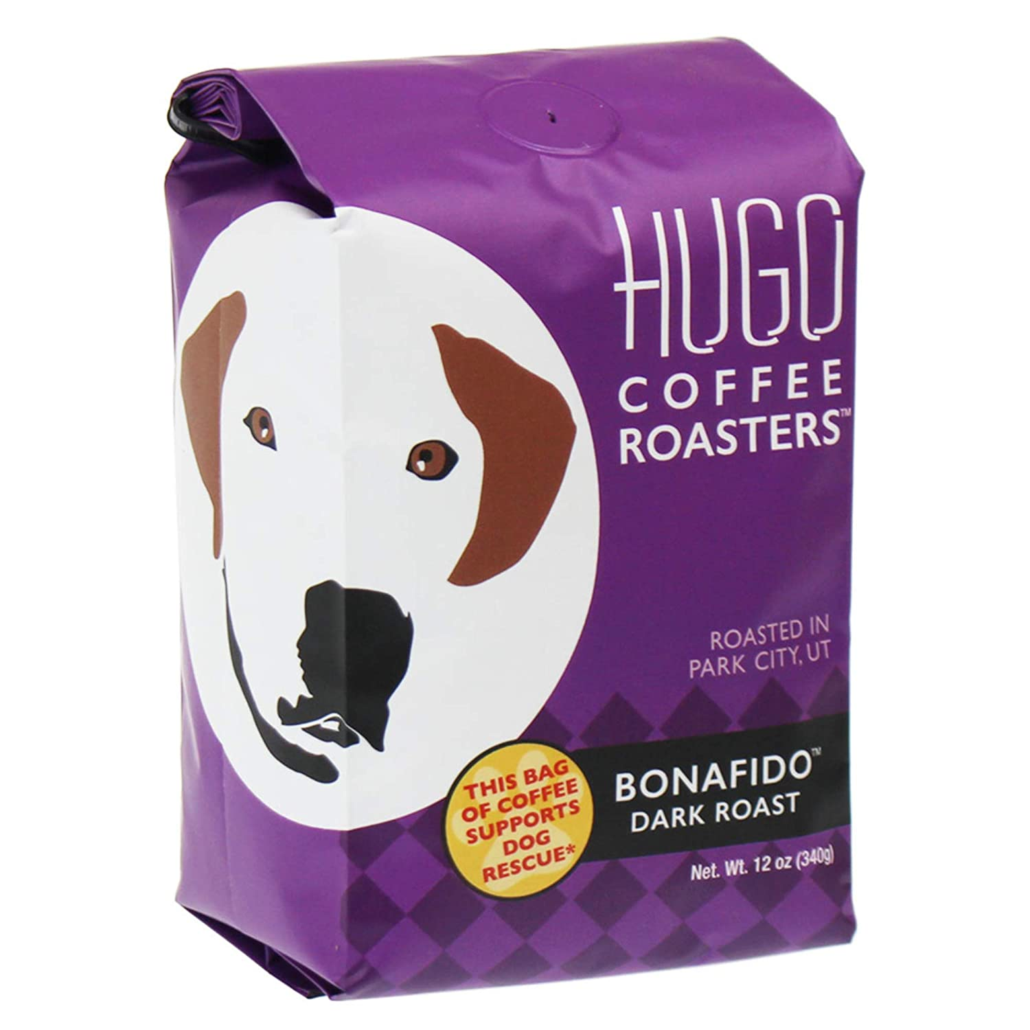 Hugo Coffee | Bonafido Dark Roast, Ground, 12 Ounces | Every Bag Sold  Supports Dog Rescue
